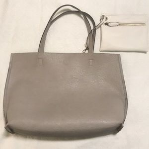 Street Level Reversible faux leather Tote